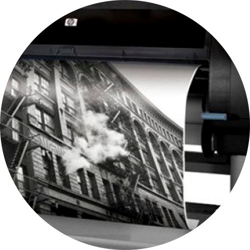HP DesignJet (Dispersion) und EPSON XXX (Solvent-UV)